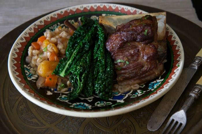 MOROCCAN LAMB WITH APRICOTS AND PEARL BARLEY