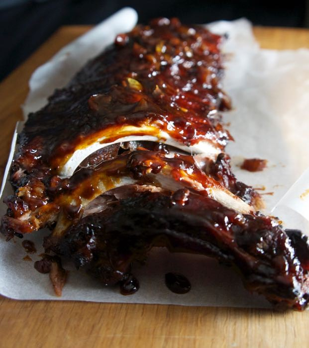 STICKY SLOW ROAST PORK RIBS