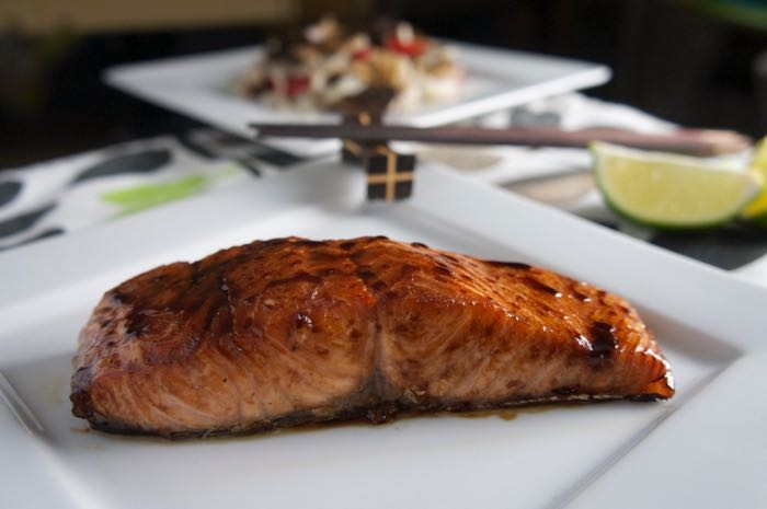 MIRIN GLAZED SALMON