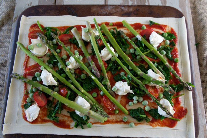 QUICK AND EASY VEGETABLE TART with MASCARPONE CHEESE