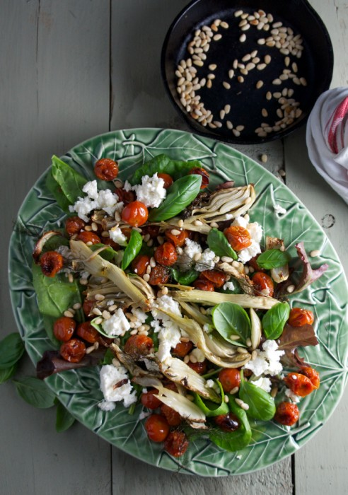 ROAST TOMATO AND FENNEL SALAD WITH FETA CHEESE