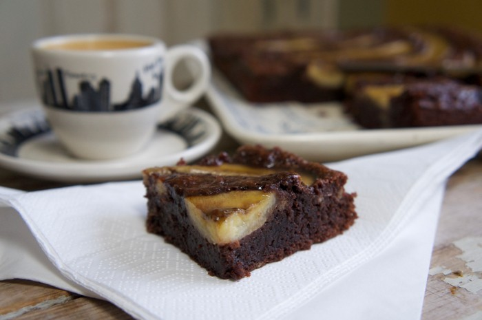 STICKY BANANA BROWNIES